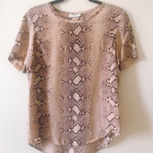 Silk Equipment blouse in snakeskin print